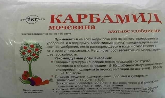 Мочевина или карбамид для обработки малиновых кустов