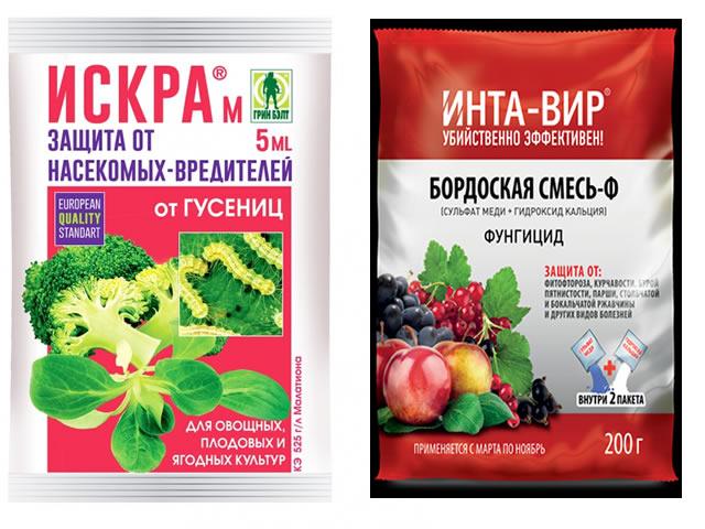 Препараты для защиты малины Конек-Горбунок от вредителей